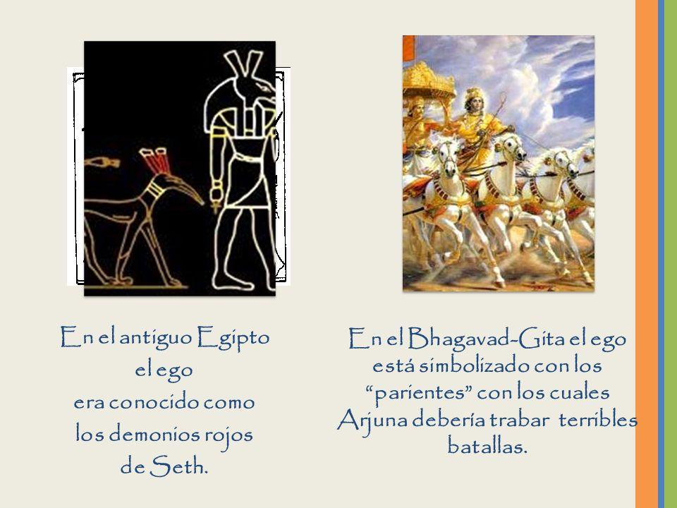 En el antiguo Egipto el ego. era conocido como. los demonios rojos. de Seth.