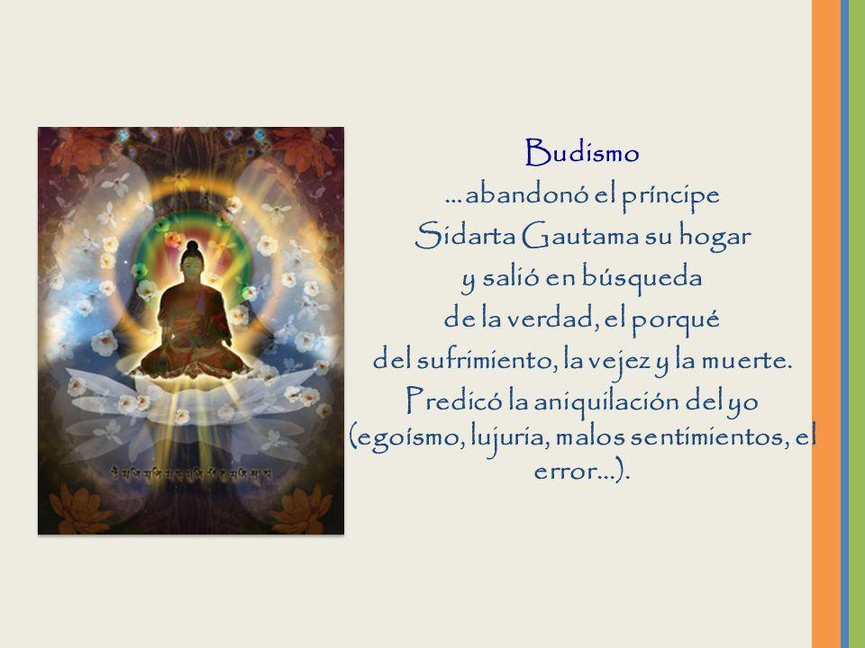 Sidarta Gautama su hogar del sufrimiento, la vejez y la muerte.
