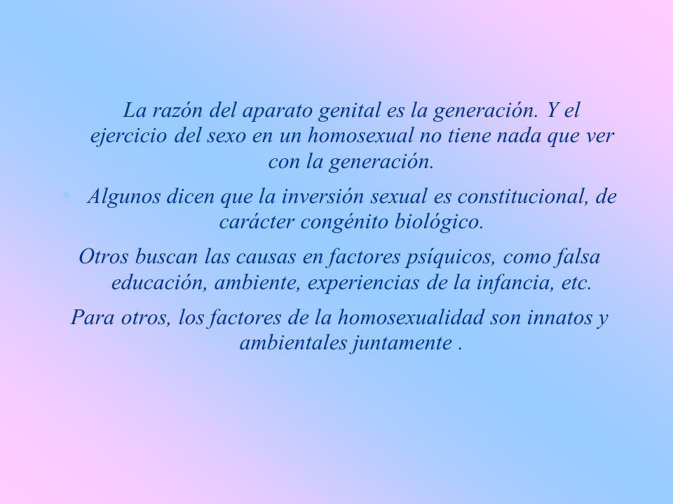 La razón del aparato genital es la generación