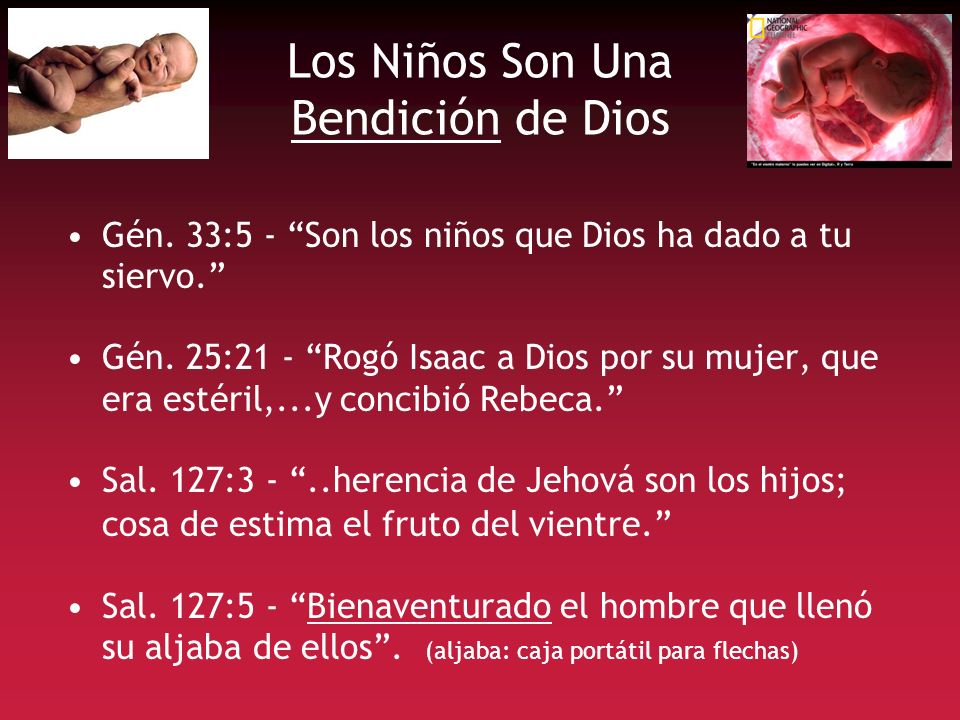 Los Niños Son Una Bendición de Dios