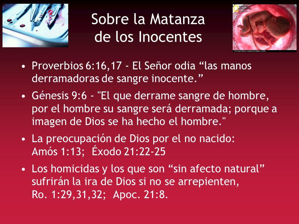 Sobre la Matanza de los Inocentes