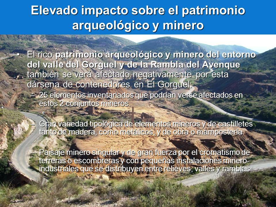Elevado impacto sobre el patrimonio arqueológico y minero