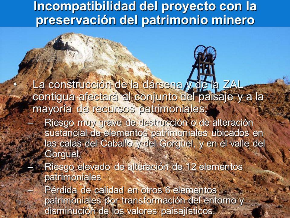 Incompatibilidad del proyecto con la preservación del patrimonio minero