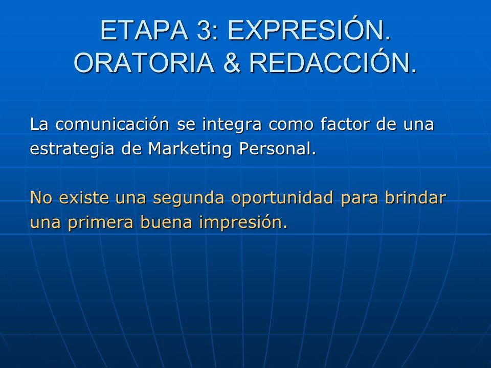 ETAPA 3: EXPRESIÓN. ORATORIA & REDACCIÓN.