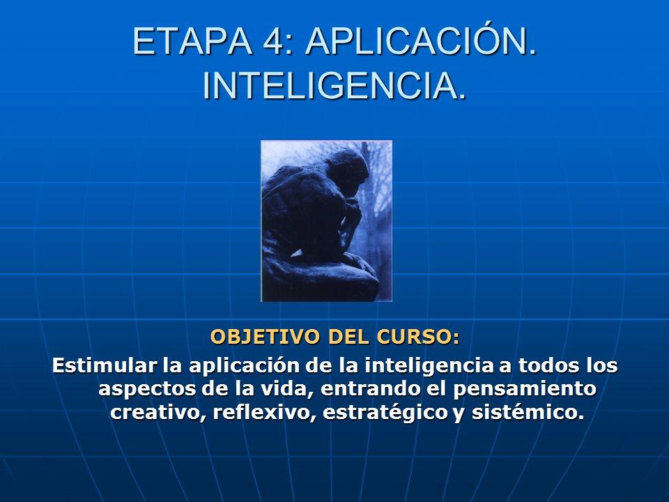 ETAPA 4: APLICACIÓN. INTELIGENCIA.