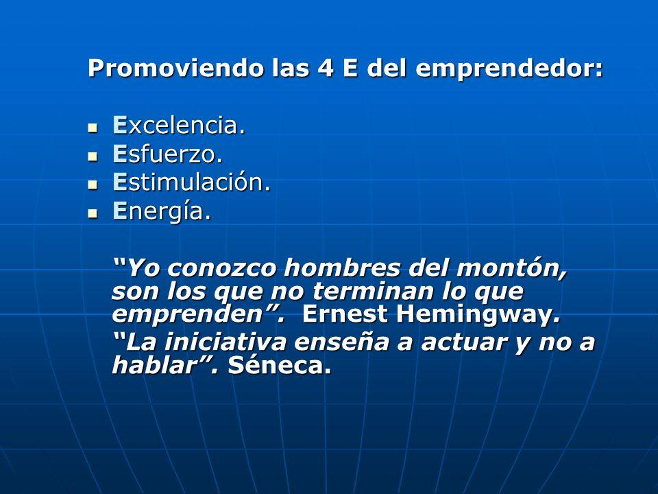Promoviendo las 4 E del emprendedor: Excelencia. Esfuerzo.