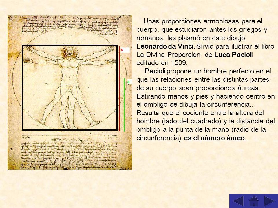 Unas proporciones armoniosas para el cuerpo, que estudiaron antes los griegos y romanos, las plasmó en este dibujo Leonardo da Vinci. Sirvió para ilustrar el libro La Divina Proporción de Luca Pacioli editado en 1509.