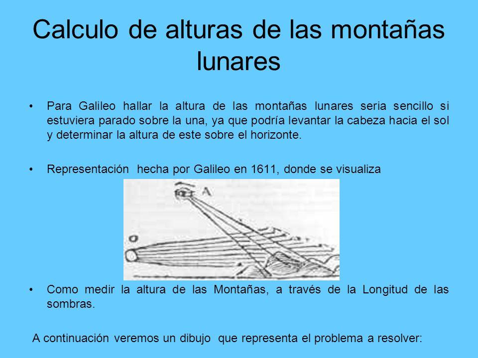Calculo de alturas de las montañas lunares