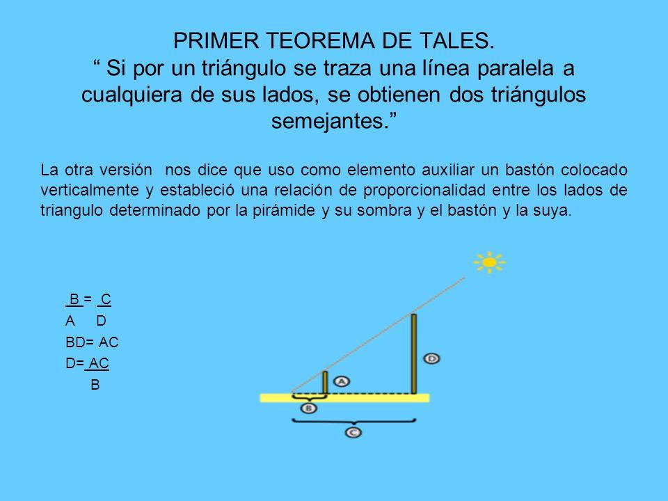 PRIMER TEOREMA DE TALES
