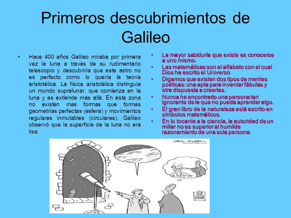 Primeros descubrimientos de Galileo