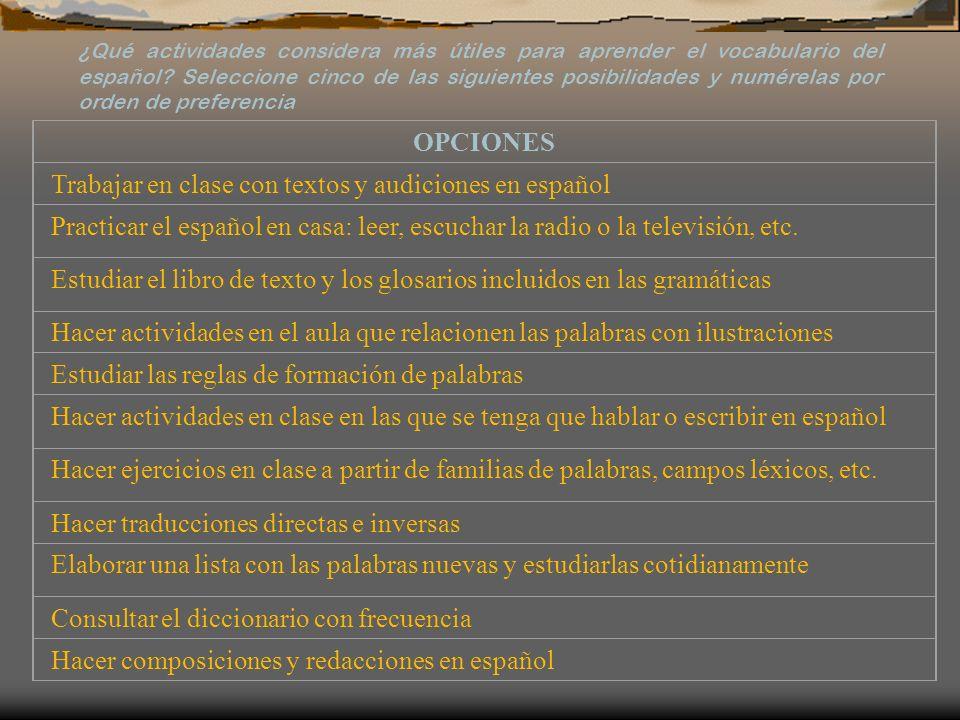 Trabajar en clase con textos y audiciones en español