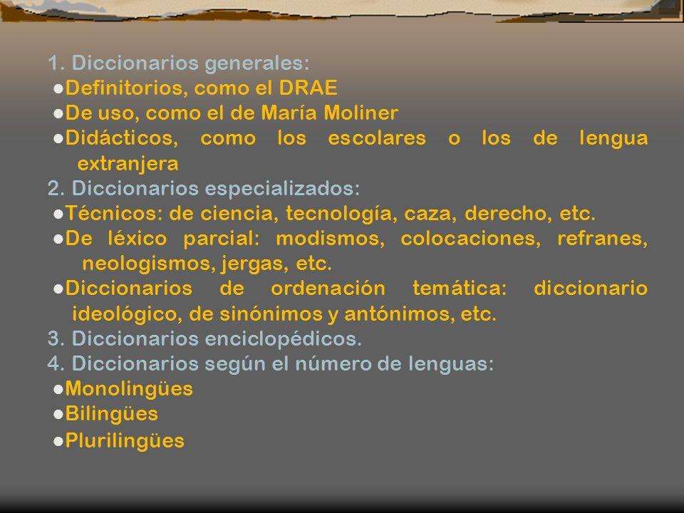 1. Diccionarios generales: