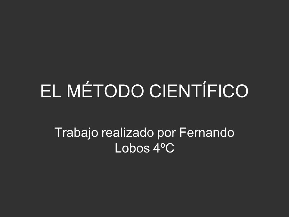 Trabajo realizado por Fernando Lobos 4ºC