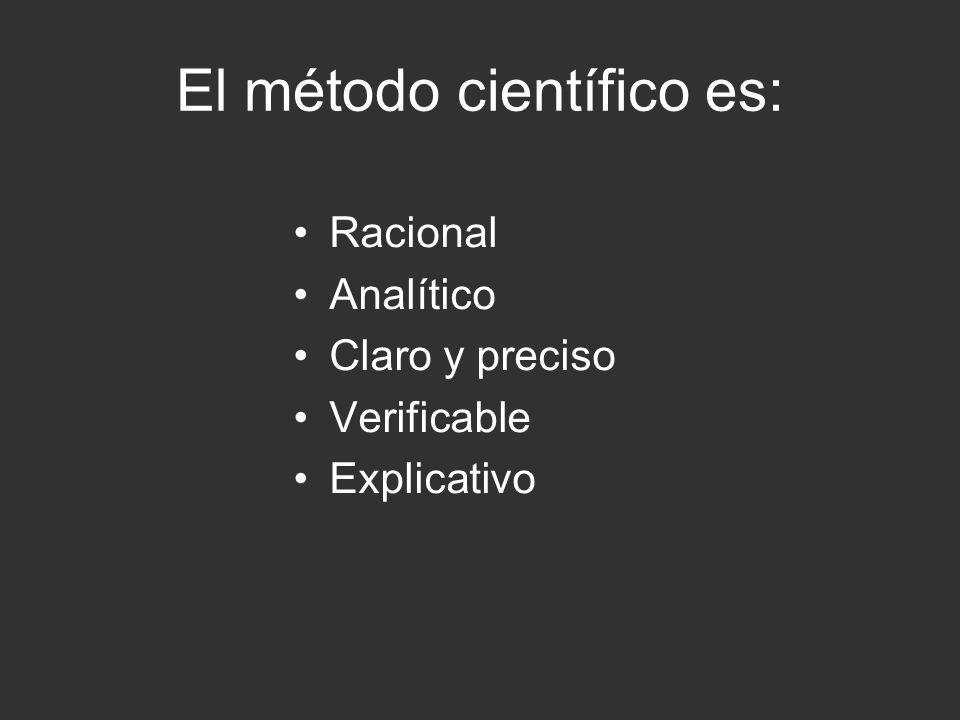 El método científico es: