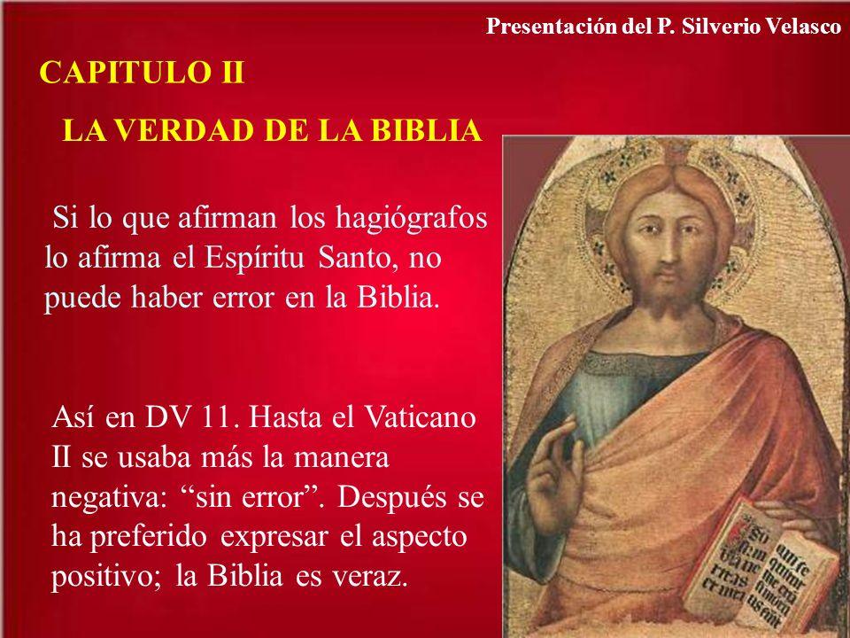 CAPITULO II LA VERDAD DE LA BIBLIA