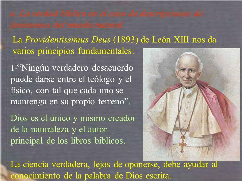 a. La verdad bíblica en el caso de descripciones de fenómenos del mundo natural