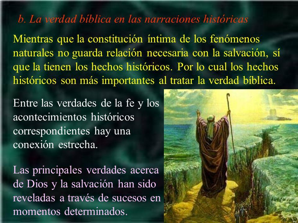 b. La verdad bíblica en las narraciones históricas