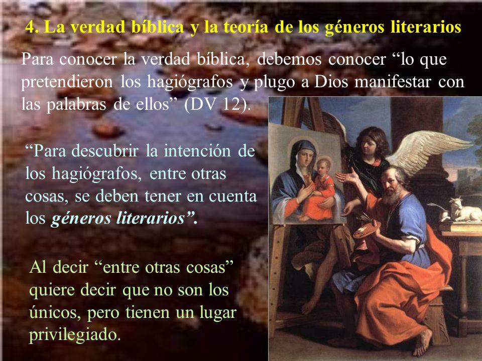 4. La verdad bíblica y la teoría de los géneros literarios