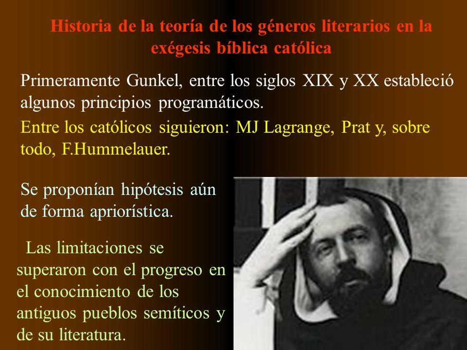 Historia de la teoría de los géneros literarios en la exégesis bíblica católica