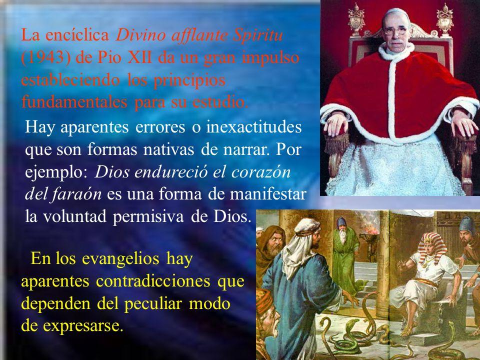 La encíclica Divino afflante Spiritu (1943) de Pio XII da un gran impulso estableciendo los principios fundamentales para su estudio.