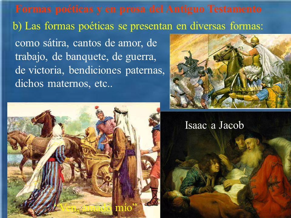 Formas poéticas y en prosa del Antiguo Testamento