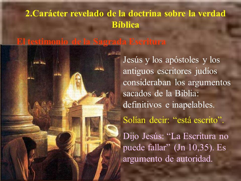2.Carácter revelado de la doctrina sobre la verdad Bíblica
