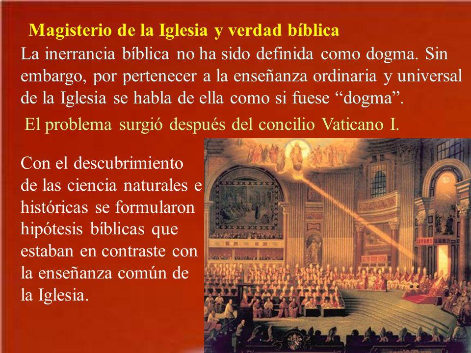 Magisterio de la Iglesia y verdad bíblica