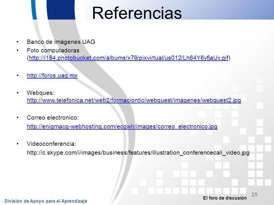 Referencias Banco de imágenes UAG