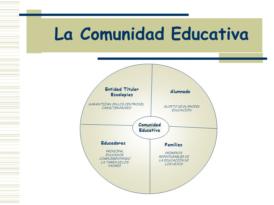 La Comunidad Educativa
