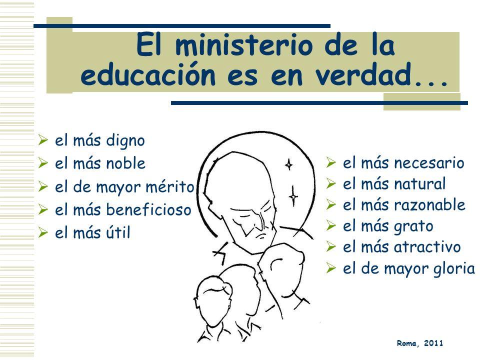 El ministerio de la educación es en verdad...