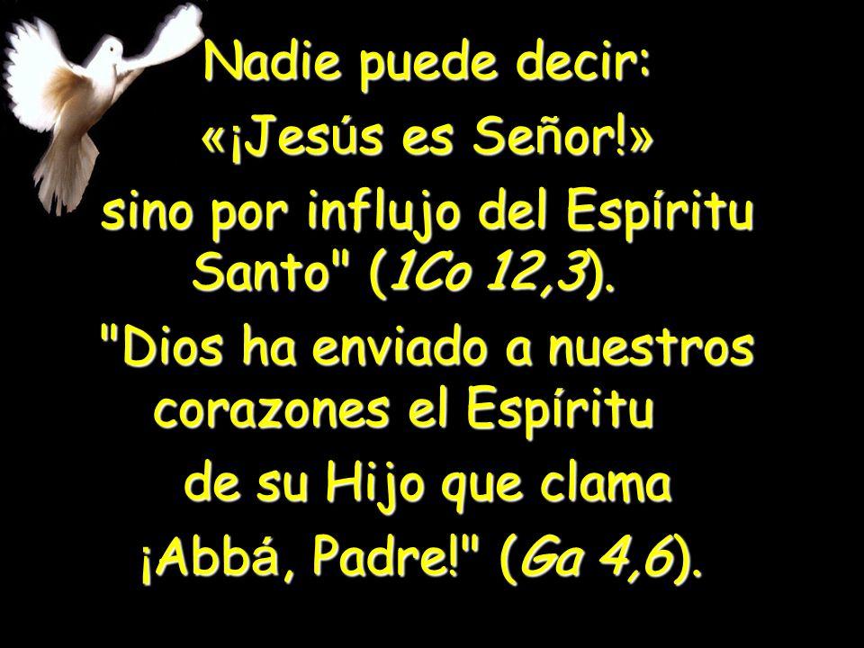 sino por influjo del Espíritu Santo (1Co 12,3).