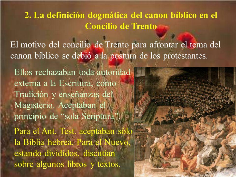 2. La definición dogmática del canon bíblico en el Concilio de Trento