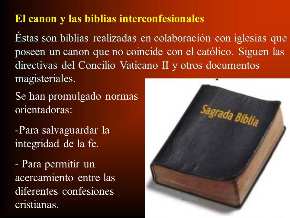 El canon y las biblias interconfesionales