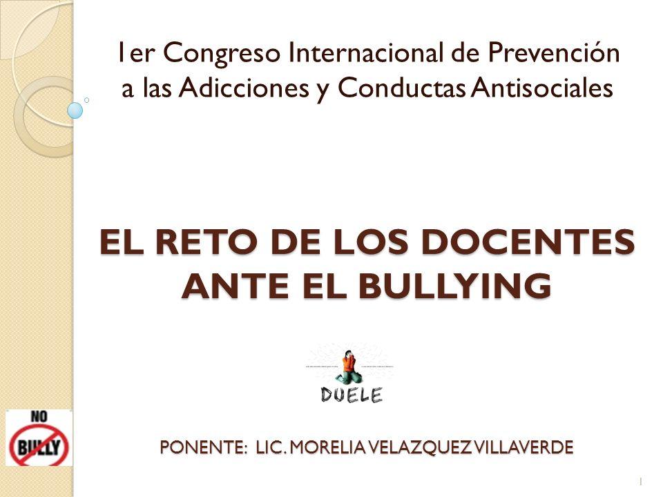 EL RETO DE LOS DOCENTES ANTE EL BULLYING