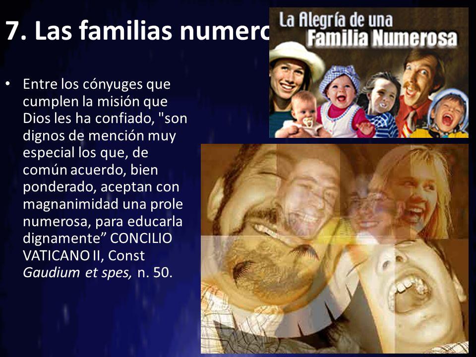 7. Las familias numerosas