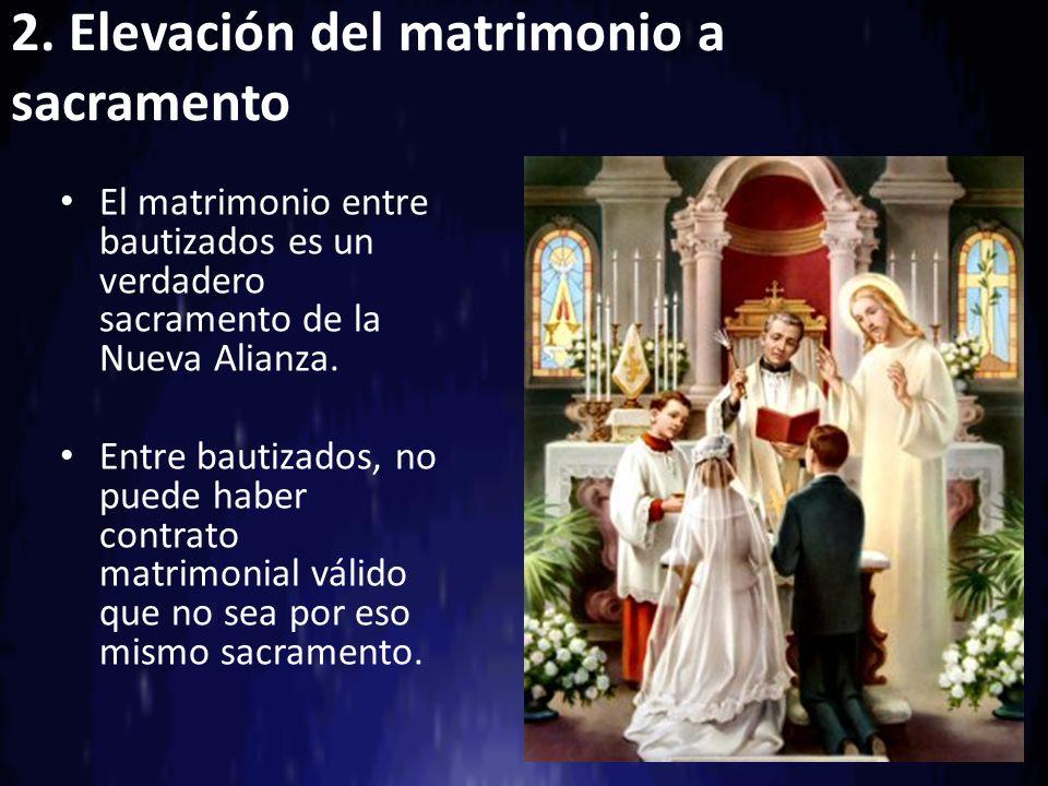 2. Elevación del matrimonio a sacramento