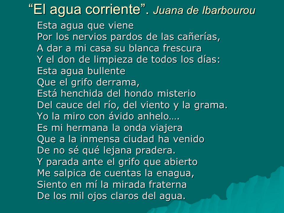 El agua corriente . Juana de Ibarbourou