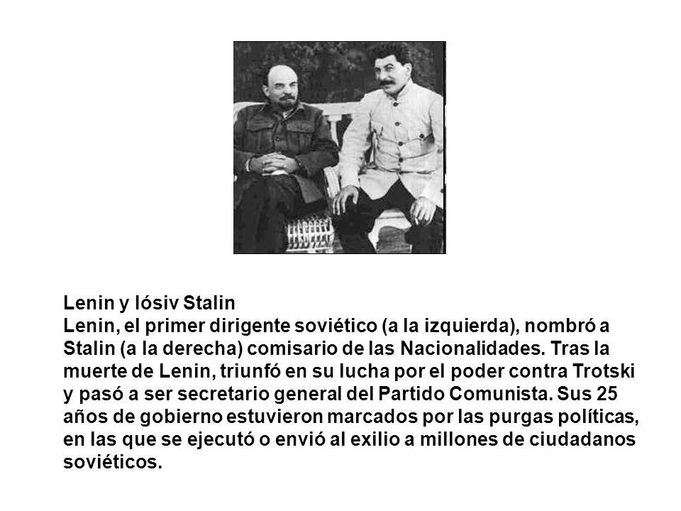 Lenin y Iósiv Stalin