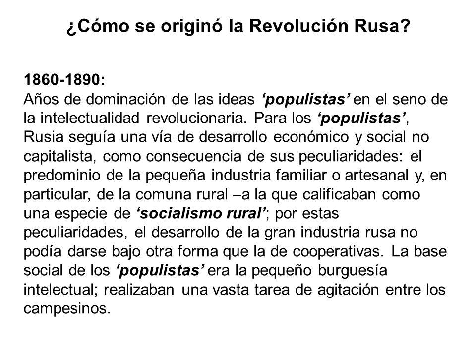 ¿Cómo se originó la Revolución Rusa