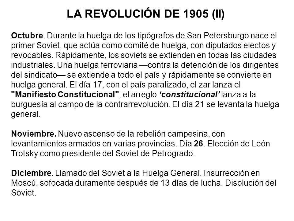 LA REVOLUCIÓN DE 1905 (II)
