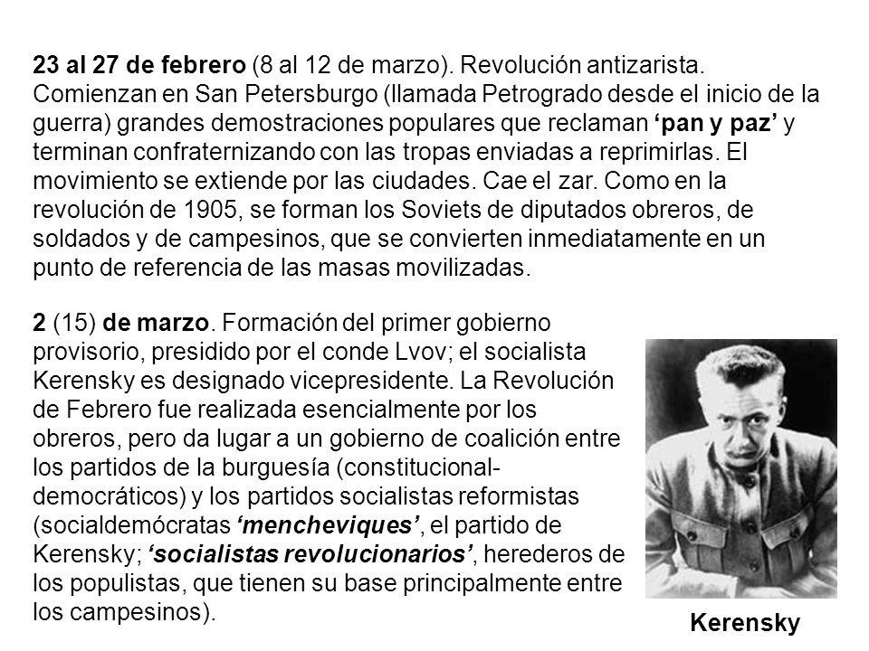 23 al 27 de febrero (8 al 12 de marzo). Revolución antizarista