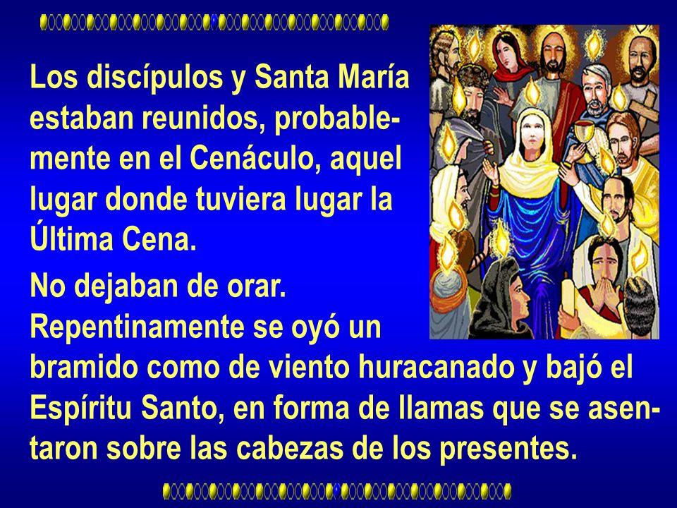 Los discípulos y Santa María