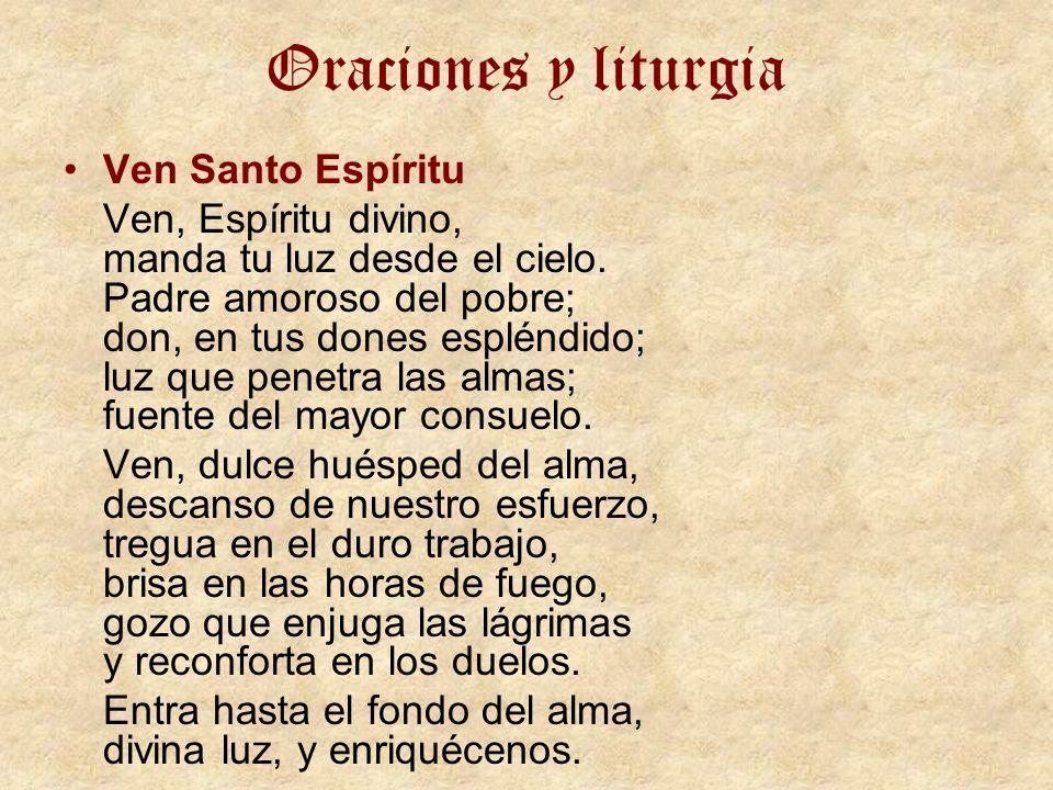 Oraciones y liturgia Ven Santo Espíritu