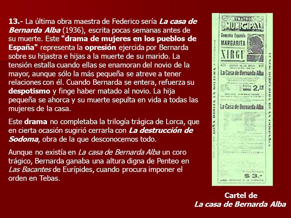 Cartel de La casa de Bernarda Alba