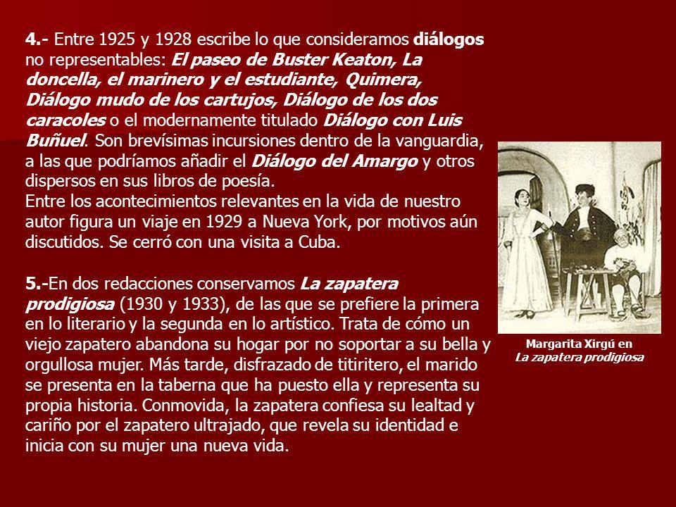 Margarita Xirgú en La zapatera prodigiosa