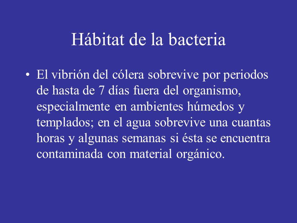 Hábitat de la bacteria