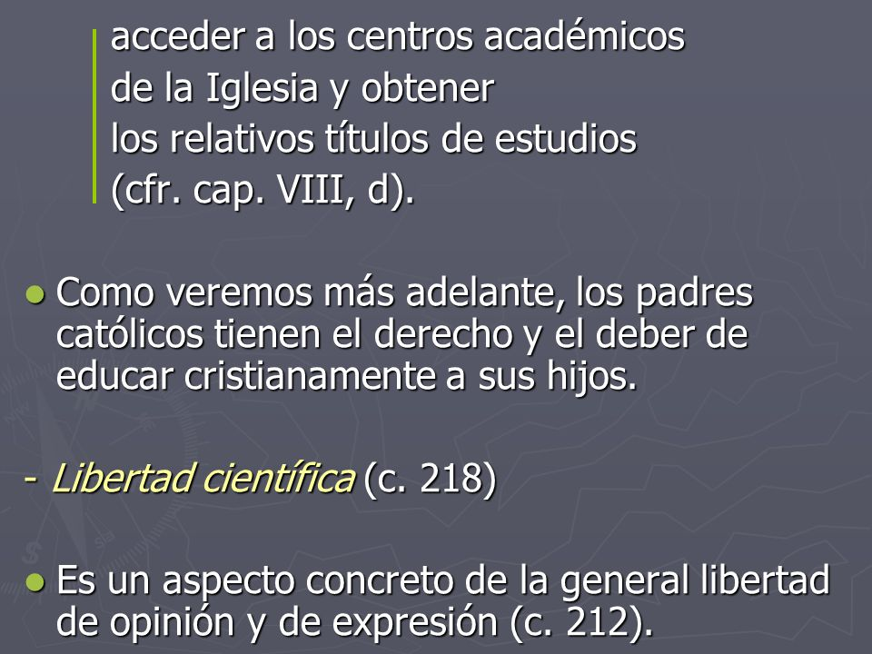 acceder a los centros académicos
