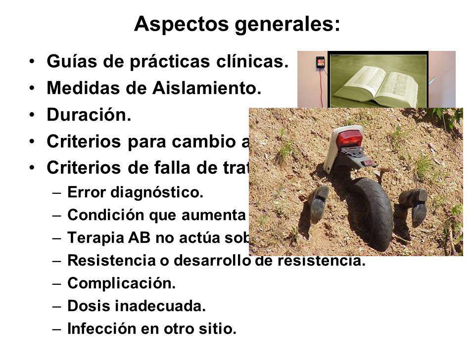 Aspectos generales: Guías de prácticas clínicas.