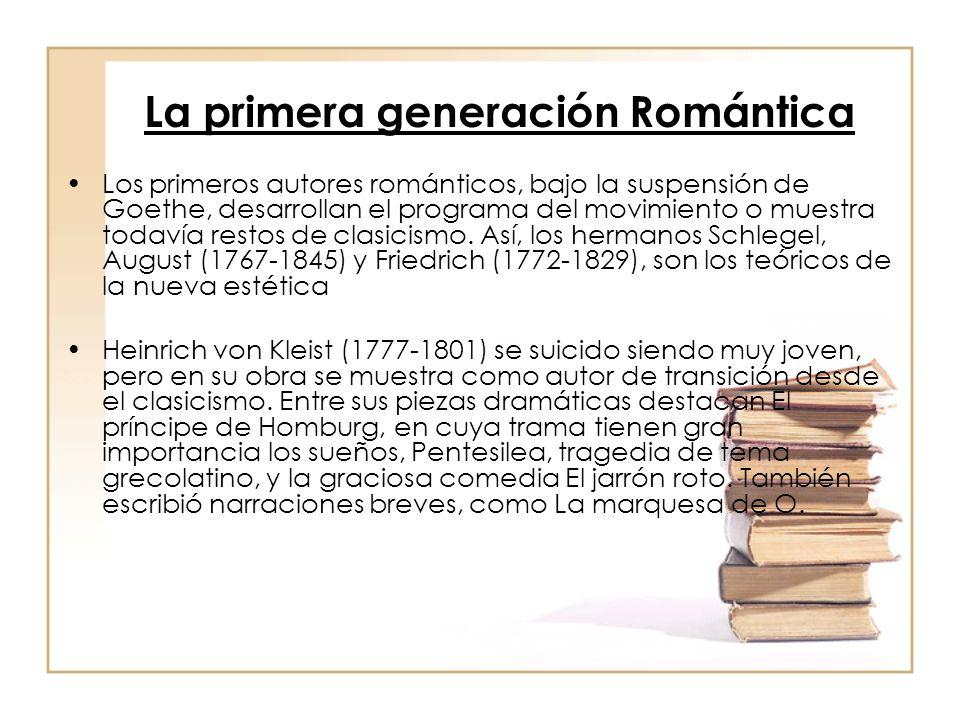 La primera generación Romántica