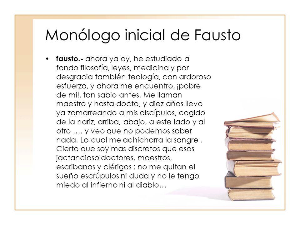 Monólogo inicial de Fausto